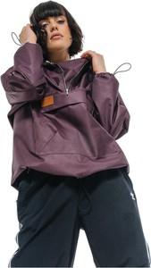 Fioletowa kurtka REST FACTORY w stylu casual