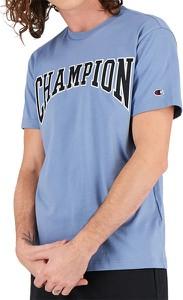 Niebieski t-shirt Champion z krótkim rękawem z bawełny