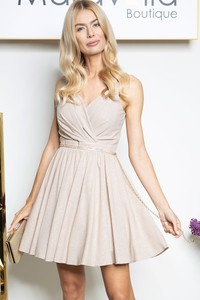 Sukienka Maravilla Boutique kopertowa bez rękawów mini