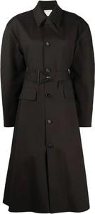 Czarny płaszcz Bottega Veneta w stylu casual