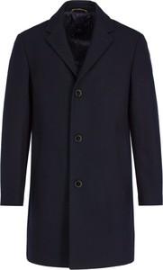 Granatowy płaszcz męski Pierre Cardin