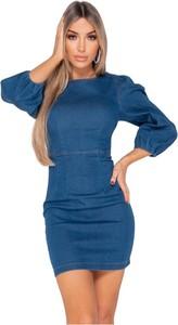 Niebieska sukienka Parisian mini bodycon