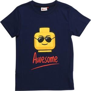 Niebieska koszulka dziecięca LEGO Wear z dżerseju
