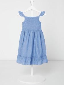 Niebieska sukienka dziewczęca Review For Kids z bawełny