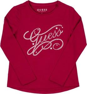 Czerwona bluzka dziecięca Guess