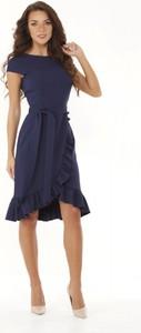 Sukienka Ella Dora z okrągłym dekoltem asymetryczna