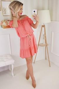 b767bd9dfd koralowa sukienka jakie buty - stylowo i modnie z Allani