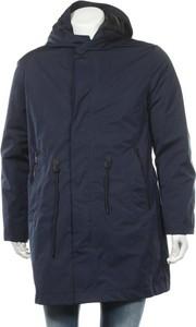 Niebieski płaszcz męski Reserved w stylu casual