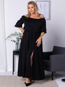Sukienka KARKO maxi hiszpanka z długim rękawem