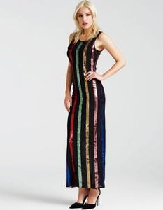 Sukienka Guess z tkaniny maxi bez rękawów