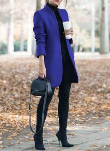 Niebieski płaszcz Sandbella w stylu casual