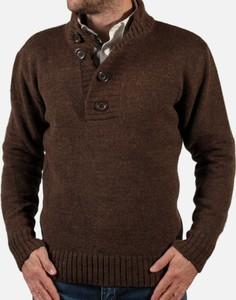 Brązowy sweter Willsoor w stylu casual
