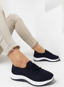 Granatowe buty sportowe born2be z płaską podeszwą