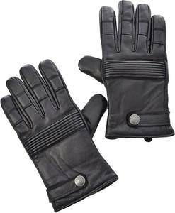 Czarne rękawiczki Redskins