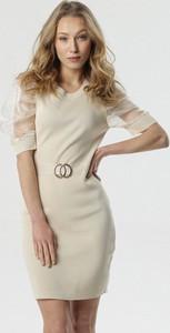Sukienka born2be w stylu casual z okrągłym dekoltem mini