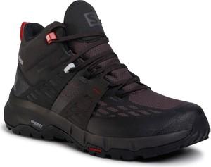Fioletowe buty trekkingowe eobuwie.pl sznurowane