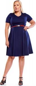 Sukienka Fokus midi z krótkim rękawem z bawełny