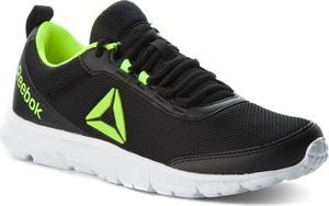 Buty sportowe Reebok w sportowym stylu sznurowane ze skóry ekologicznej
