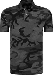 Koszulka polo POLO RALPH LAUREN w militarnym stylu z krótkim rękawem