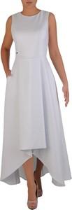 Sukienka POLSKA z okrągłym dekoltem bez rękawów maxi