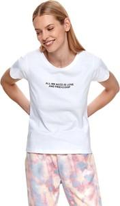T-shirt Drywash z okrągłym dekoltem z krótkim rękawem