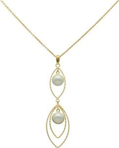 Irbis.style srebrny pozłacany naszyjnik z perełkami
