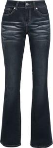 Granatowe jeansy Emp z bawełny