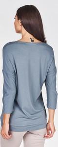 Bluzka Fokus z okrągłym dekoltem z długim rękawem