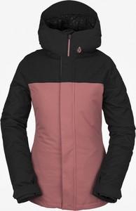 Różowa kurtka Volcom w stylu casual krótka
