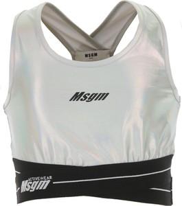 Srebrna bluzka dziecięca MSGM