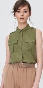 Zielona koszula Sinsay w stylu casual