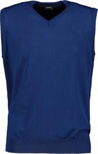 Niebieski sweter Lavard w stylu casual z dzianiny