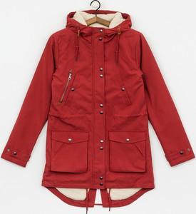 Czerwona kurtka Volcom z bawełny w stylu casual