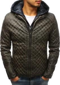 Czarna kurtka Dstreet w stylu casual ze skóry ekologicznej