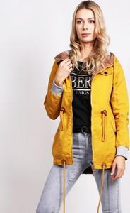 Żółta kurtka Dstreet w stylu casual z bawełny