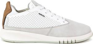 Buty sportowe Geox ze skóry sznurowane