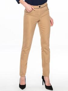 Brązowe spodnie POTIS & VERSO z bawełny