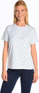 T-shirt Gate z krótkim rękawem z okrągłym dekoltem z bawełny
