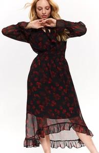 Sukienka Top Secret z długim rękawem midi