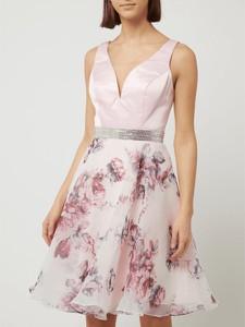 Sukienka Luxuar Fashion bez rękawów z satyny