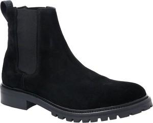 Czarne buty zimowe Hugo Boss