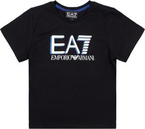 Czarna koszulka dziecięca Emporio Armani