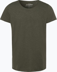Zielony t-shirt Jack & Jones z dżerseju z krótkim rękawem