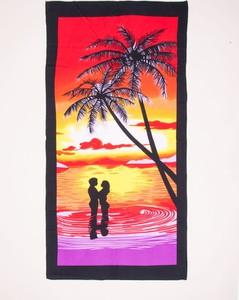 Yoclub Ręcznik plażowy prostokątny zachód słońca