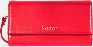 Czerwona torebka Kazar mała ze skóry w stylu glamour