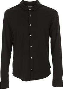 Czarna koszula Emporio Armani z bawełny z długim rękawem