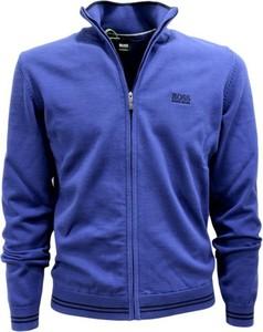 Niebieski sweter Hugo Boss z tkaniny