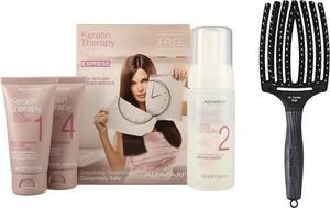 Alfaparf Milano Alfaparf Keratin Therapy Kit and Finger Brush | Zestaw do włosów: keratynowe prostowanie włosów + szczotka rozmiar L - Wysyłka w 24H!