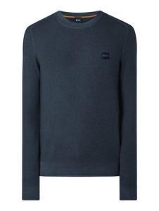 Granatowy sweter Hugo Boss w stylu casual z wełny