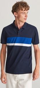 Koszulka polo Reserved z krótkim rękawem z bawełny